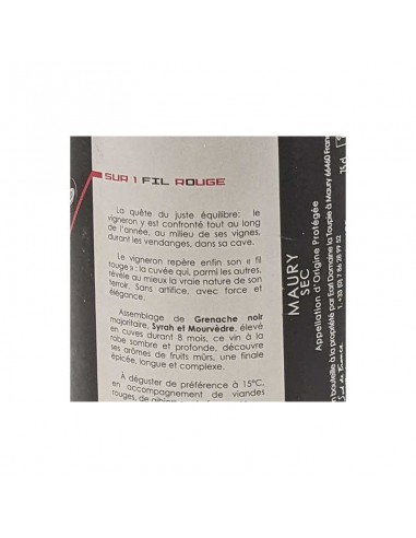 Sur un Fil rouge 2015 - Domaine de la...