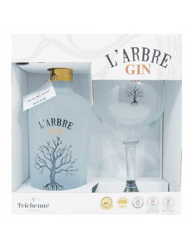 Coffret avec 1 Verre - L'Arbre Gin -...